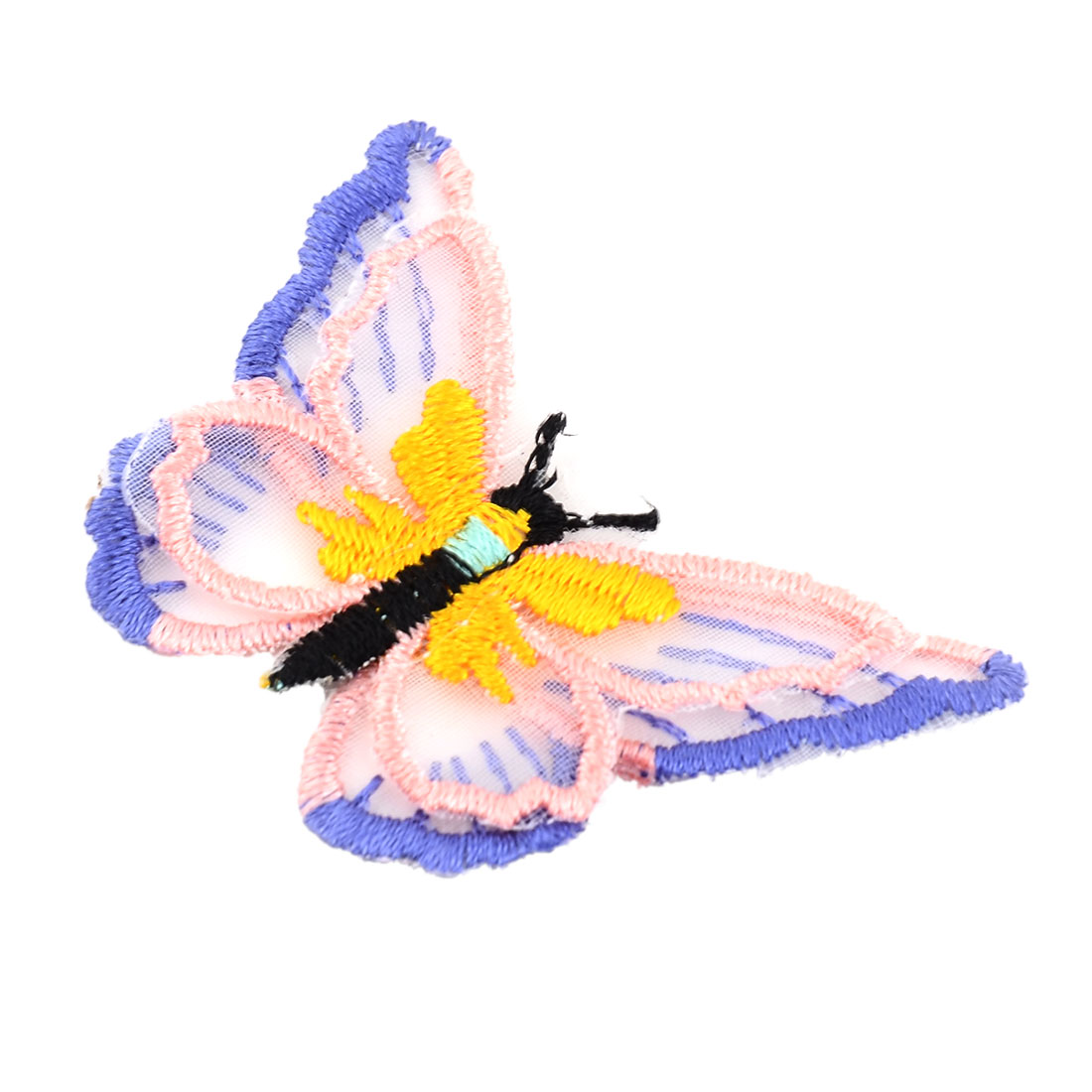 Unique Bargains Polyester Butterfly Design Embroidery DIY Sewing Clothes Decor Lace Applique