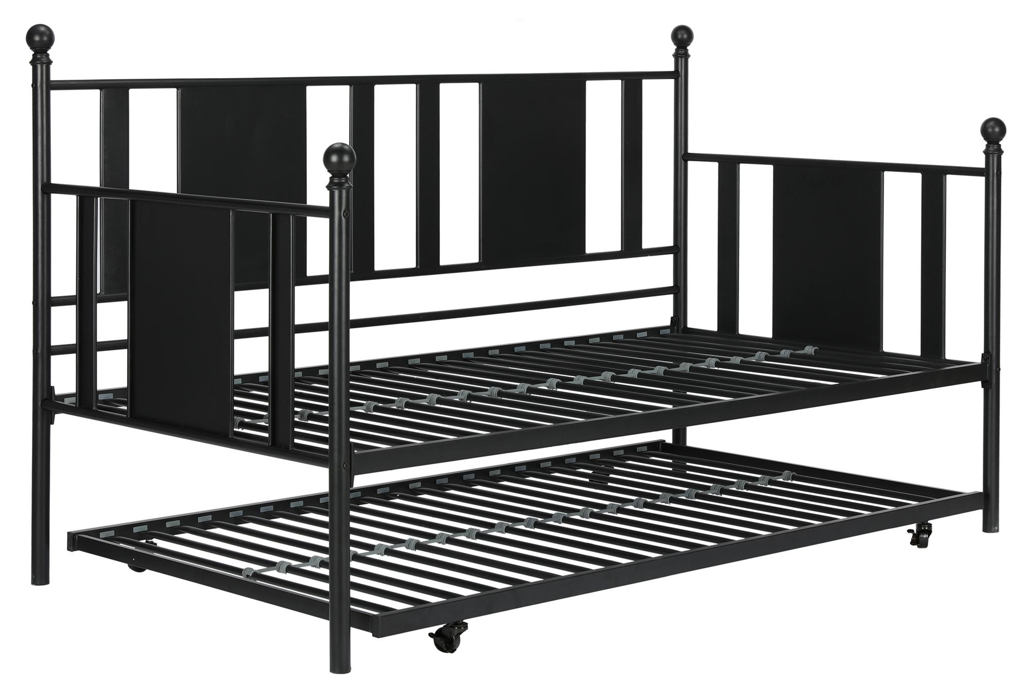 DHP Langham Twin Metal Day Bed with Trundle, Black by Dorel Home Products