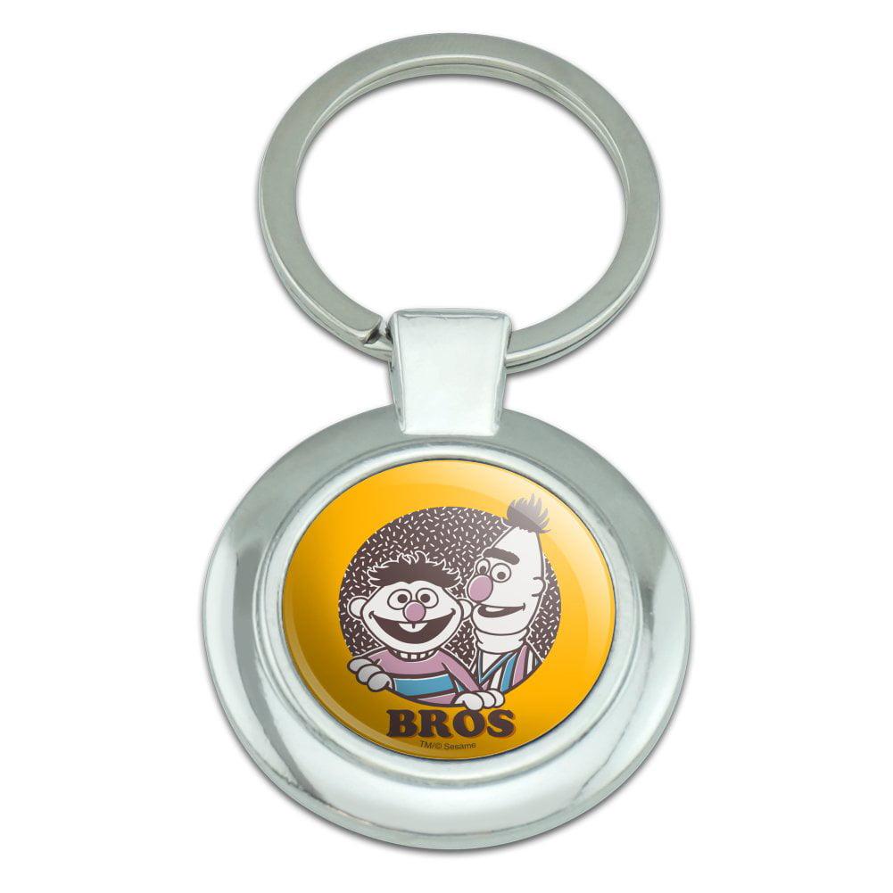 Sesame Street Bert and Ernie Bros Round Cufflink Set Silver Color