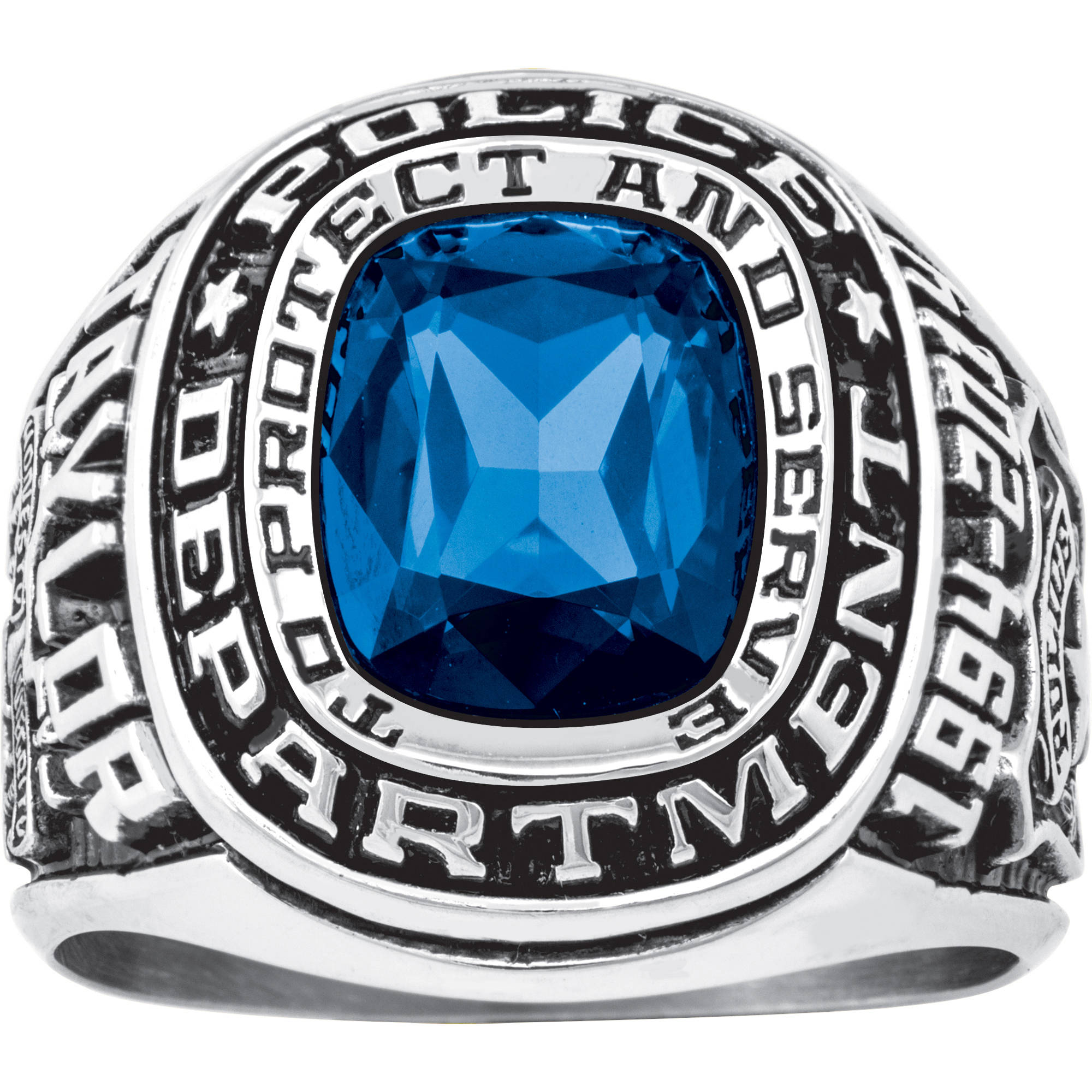 Personalized Keepsake Men's Police Department Ring
