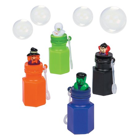 Fun Express - Halloween Character Bubble Bottles for Halloween - Toys - Bubbles - Character Bubble Bottles - Halloween - 12 Pieces](Bubble Hit Halloween)