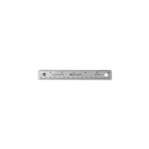 ACME UNITED CORPORATION Ruler, 6 Long, Stainless Steel