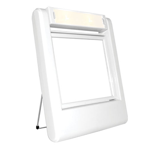 Rucci Lighted Stand Mirror, 1 Ounce