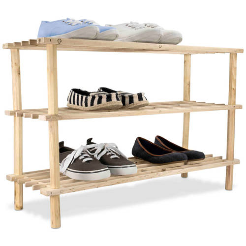 Sunbeam 3-Tier Wooden Shoe Rack