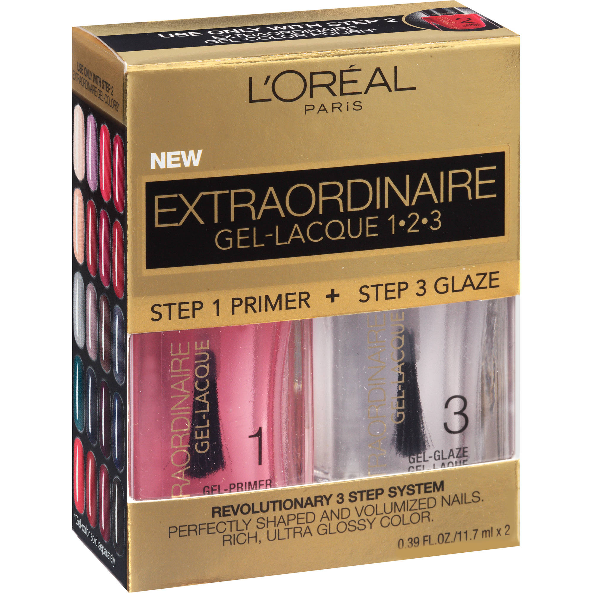 Loreal Extraordinaire Gel Lacque 1 2 3 Nail Kit 0 78 Oz