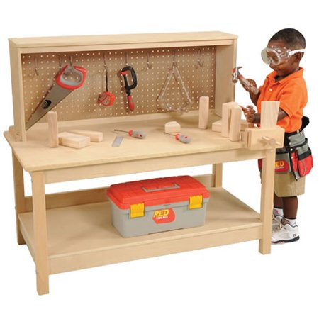 Wooden Workbench with Vise -