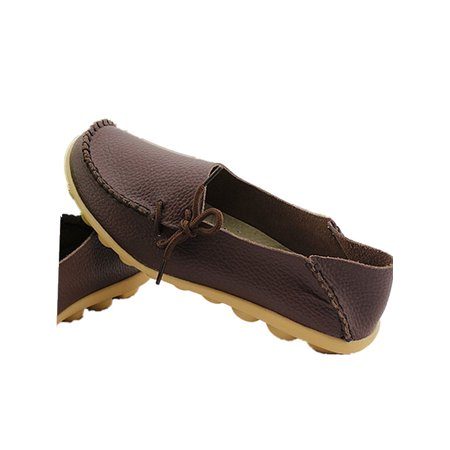 (Women Driving Loafers Slip On Soft Walk Flats Moccasins Lady Anti-skid Shoes)
