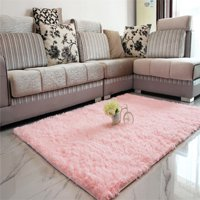 Product Image 13 Colors 4 Sizes Modern Soft Fluffy Floor Rug Anti Skid Gy Area Variants Selector Pink