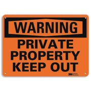 LYLE U6-1201-RA_14X10 Admittance Sign, Private Property, 10 in H