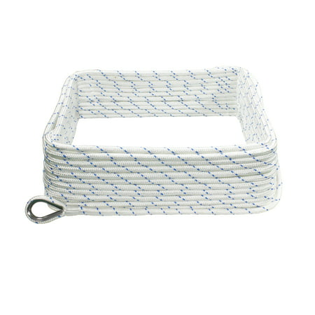 - Extreme Max 3006.2505 BoatTector Double Braid Nylon Anchor Line with Thimble - 3/8