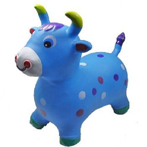 Blue Bull Animal Hoppers Children's Ride On Toy Hopper Bouncy Inflatable Ride-On