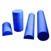 "PE Blue Foam Roller, 6"" X 36"", Half-Round, The perfect myofascial release tool for CrossFit, Yoga, Pilates, Weight Training, Bodybuilding, MMA and other.., By Cando Ship from US"