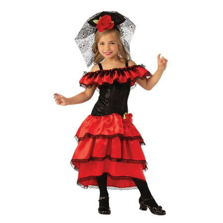 Spanish Woman Costume (Halloween Spanish Dancer Child)