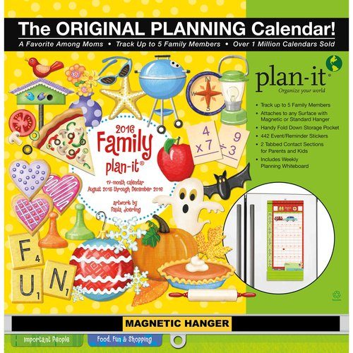 Family Plan-it Plus 17-Month 2016 Calendar