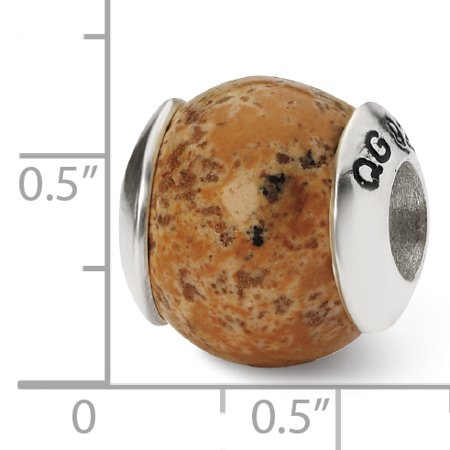 925 Sterling Silver Charm For Bracelet Picture Jasper Stone Bead From The Earth Fine Jewelry For Women Gifts For Her - image 5 de 8