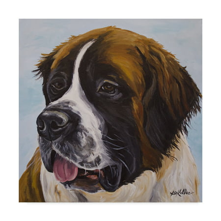Trademark Fine Art 'St Bernard Painted Portrait' Canvas Art by Hippie Hound (Custom Hand Painted Portrait)