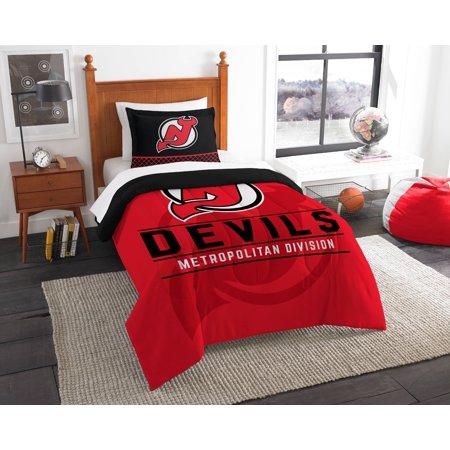 New Jersey Devils The Northwest Company NHL Draft Twin Comforter Set - Nhl Devils