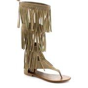 YOKI SHOES Beston DB36 Women's Fringe Gladiator Sandals