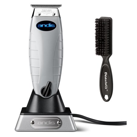 Andis Cordless T-Outliner Trimmer with BeauWis Blade Brush ()