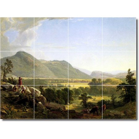 Ceramic Tile Mural Asher Durand Landscapes Painting 136 24 w x 18 h u