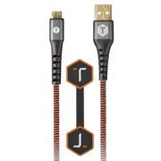 ToughTested Durable Braided Fabric Micro USB Cable, 6'
