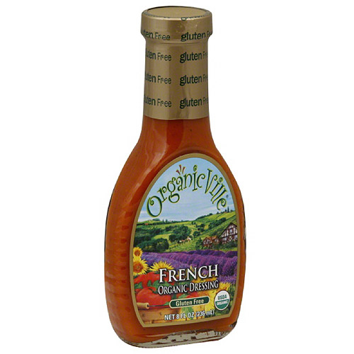 Organicville Organic French Salad Dressing, 8 oz, (Pack of 6)