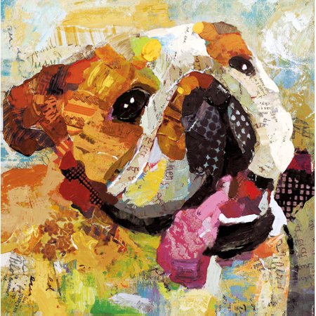 Portfolio Canvas Decor Art Dog Bulldog By Sandy Doonan Painting Print On Wrapped Canvas