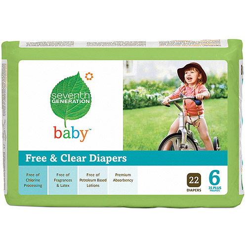 Seventh Generation Diapers, Count 22,