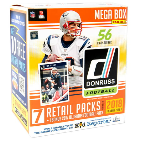 2018 Panini NFL Donruss Trading Cards Mega (Topps Nfl Football Base Card)