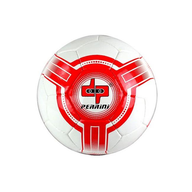 8304 Perrini Futsal - Official Size 4 Soccer Ball White & Red