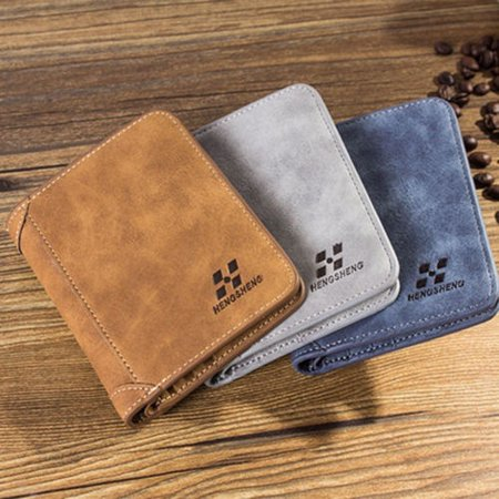 New fashion men´s PU leather fashion high quality short wallet wallet credit card money mobile phone holder case (Best Credit Card For High School Graduate)
