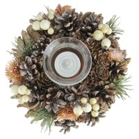 "7.25"" Pine Cone Thanksgiving Votive Candle Holder"