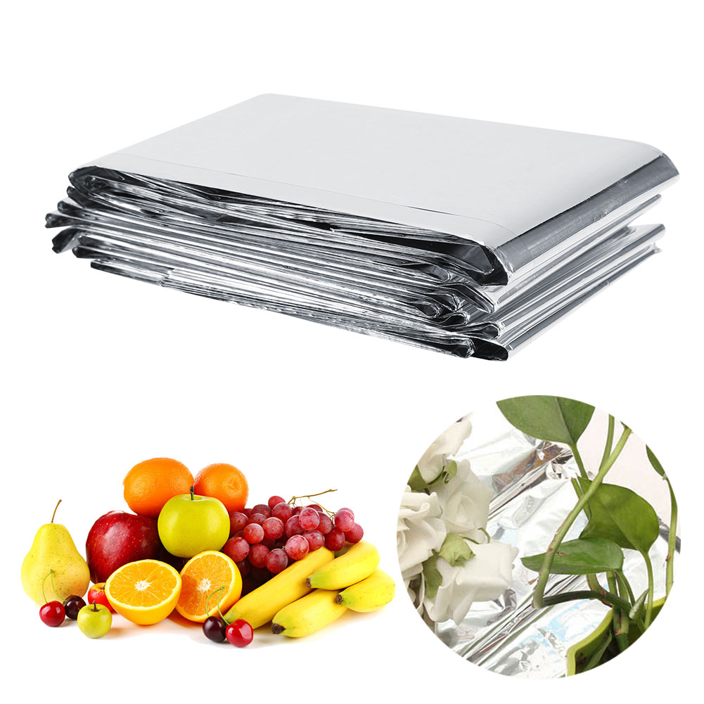 WALFRONT 1Pc 210 x 120cm Silver Plant Reflective Film Garden Greenhouse Grow Light Accessories New, Plant Reflection Film, Plant Reflective Film