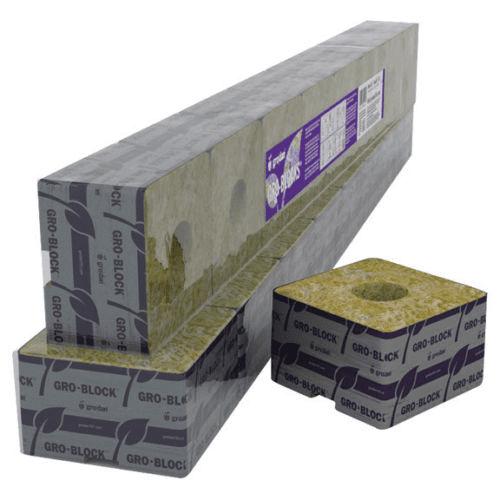 Grodan Delta 4 Rockwool Block 3 x 3 x 2.5 With Hole Case ...