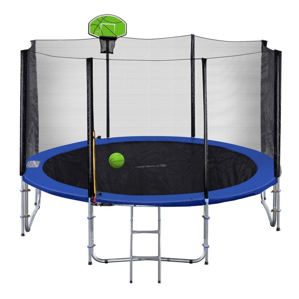 Exacme 10' Round Trampoline with Safety Enclosure