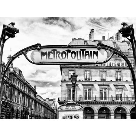 Art Deco Metropolitain Sign, Metro, Subway, the Louvre Station, Paris, France, Europe Print Wall Art By Philippe Hugonnard Art Deco Floral Print