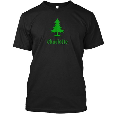 Charlotte Christmas Market.Holiday Charlotte Family Christmas Tree Hanes Tagless Tee