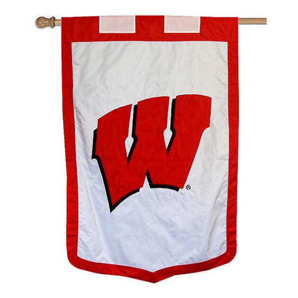 "Wisconsin Badgers 35"" x 52"" NCAA House Flag"