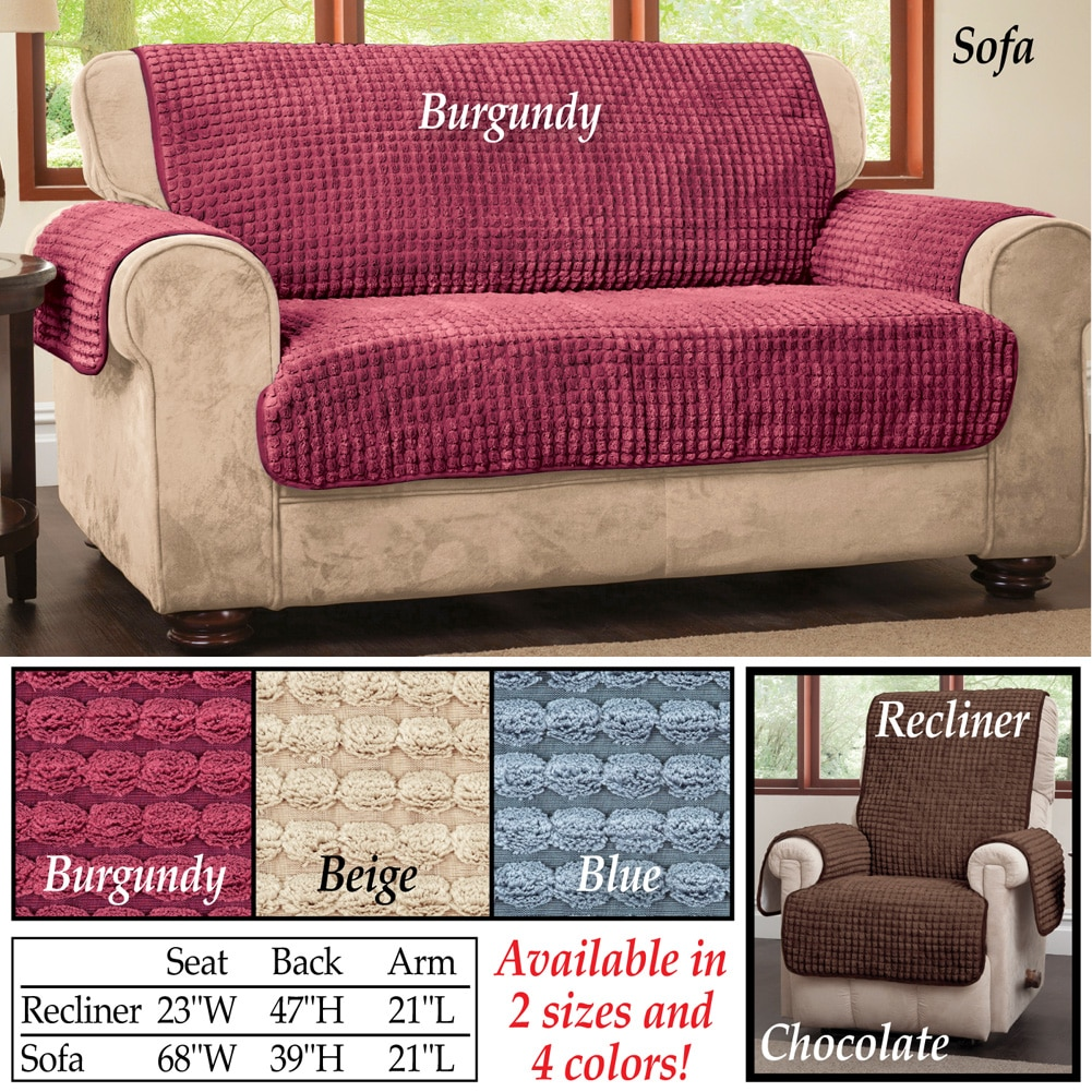 Chenille Quilted Furniture Protector Cover, Sofa, Multicolor