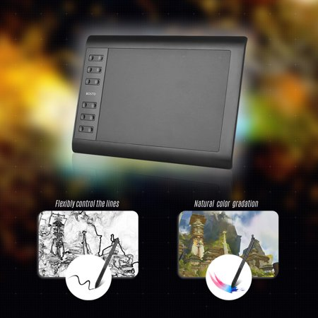 Bosto 1060 Plus Digital Graphic Drawing Painting Animation Tablet Pad 10'' * 6'' Working Area 8192 Level Pressure -