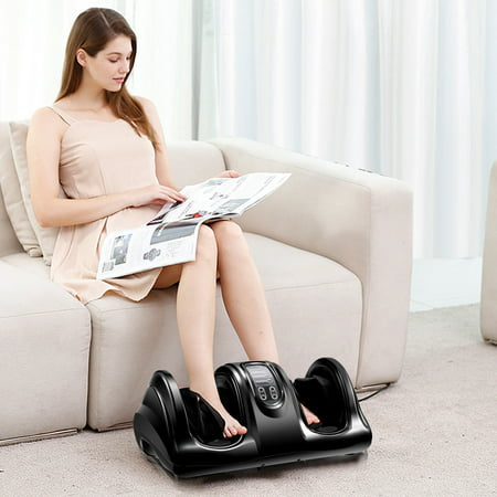 Costway Shiatsu Foot Massager Kneading and Rolling Leg Calf Ankle w/Remote Black - image 7 of 9