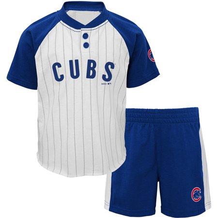 new concept d38fa 1d9da Chicago Cubs Preschool Good Hit Henley T-Shirt & Shorts Set ...
