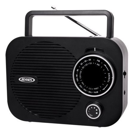 JENSEN MR-550-BK Portable AM/FM Radio (Black)