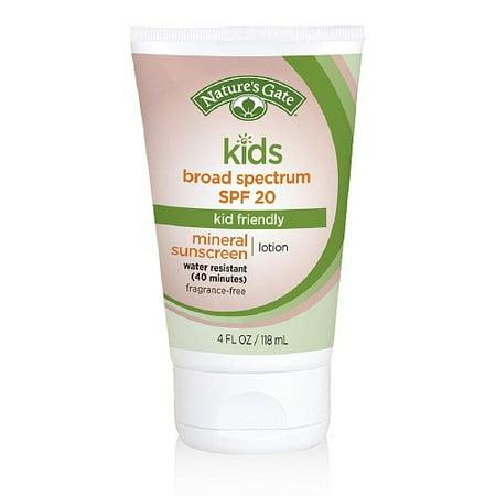 Nature's Gate Kids Sunscreen SPF 20, Kid Friendly, 4 Fl