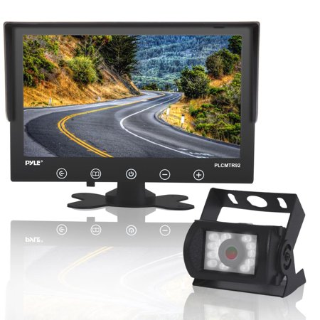 PYLE PLCMTR92 - Waterproof Rated Backup Camera & Monitor System - with 9'' Display Monitor (DC 12-24V for Bus, Truck, Trailer,