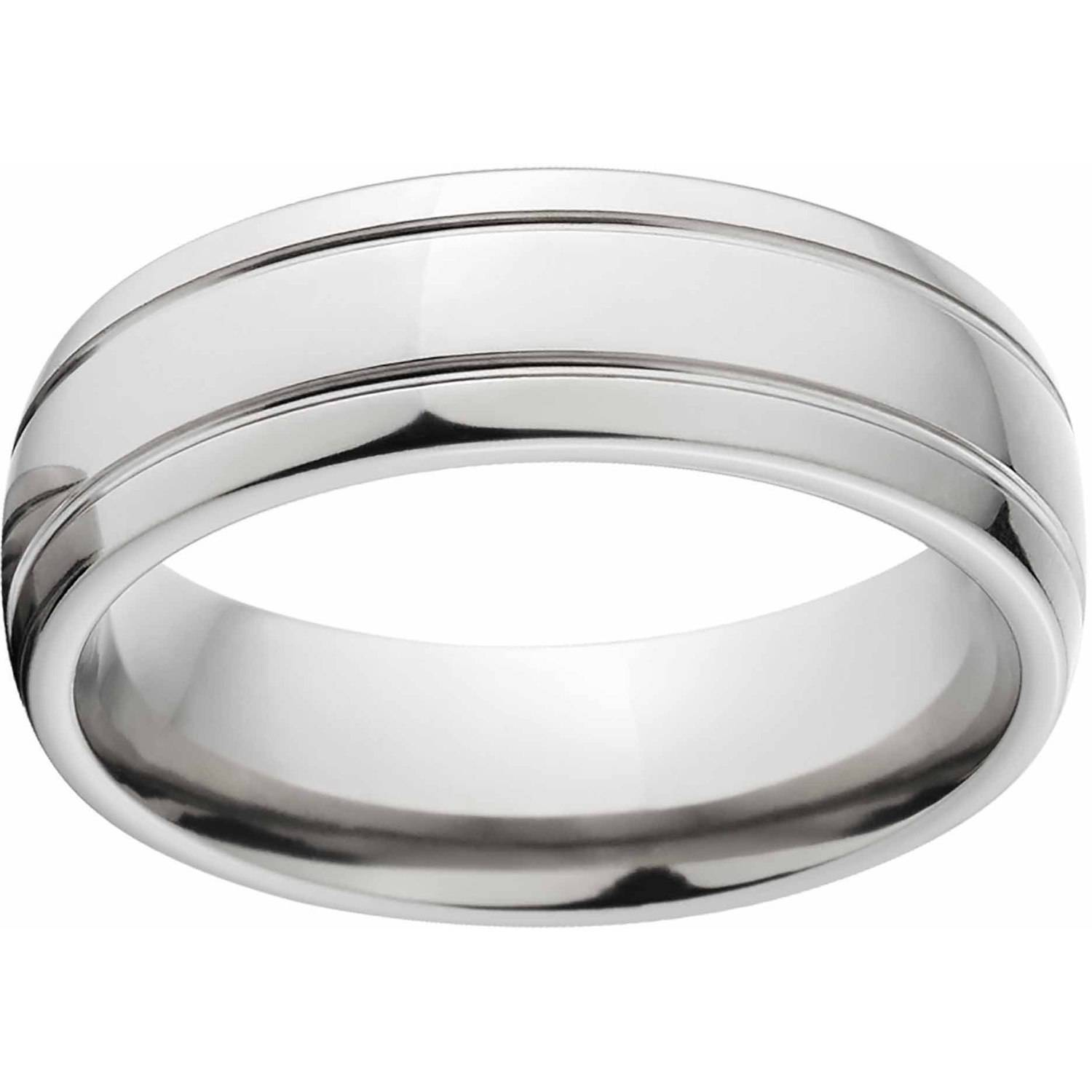 Polished 7mm Titanium Wedding Band with Comfort Fit Design
