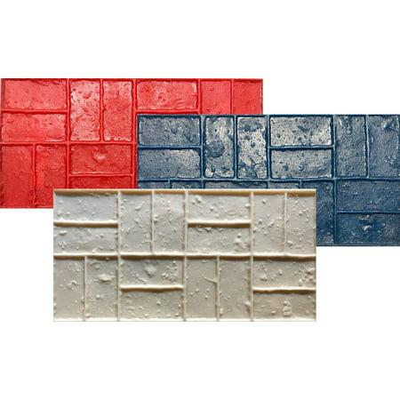 Concrete Stamp Set of 3 mats Brick Pattern. Brick texture Stamp Mat SM 4300 (Best Stamped Concrete Pattern)