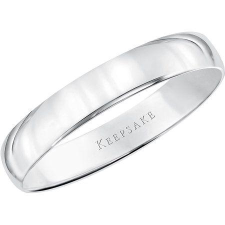 Keepsake 10kt White Gold Comfort Fit Wedding Band, 4mm