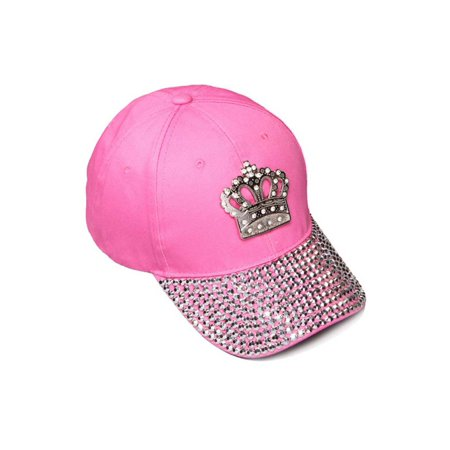 Womens Sequiened Baseball Cap w/ Crown