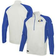 Los Angeles Rams Combine Authentic Two-a-Days Half-Zip Jacket - Cream